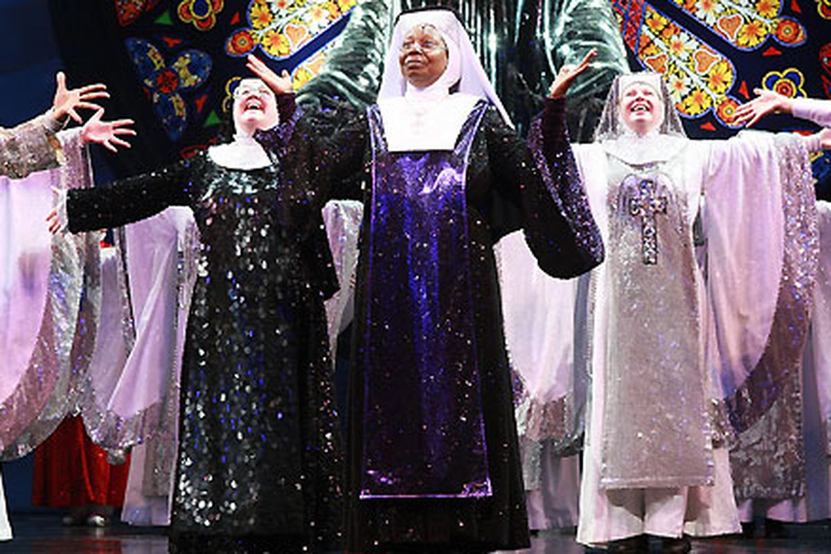 """Photo via <a href=""""http://www.cbc.ca/news/arts/theatre/story/2010/10/06/sister-act-musical-broadway.html%22"""">CBC News</a>"""