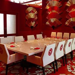 The private dining room at Mizumi.
