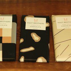 Mast Brothers Chocolates, $11 each