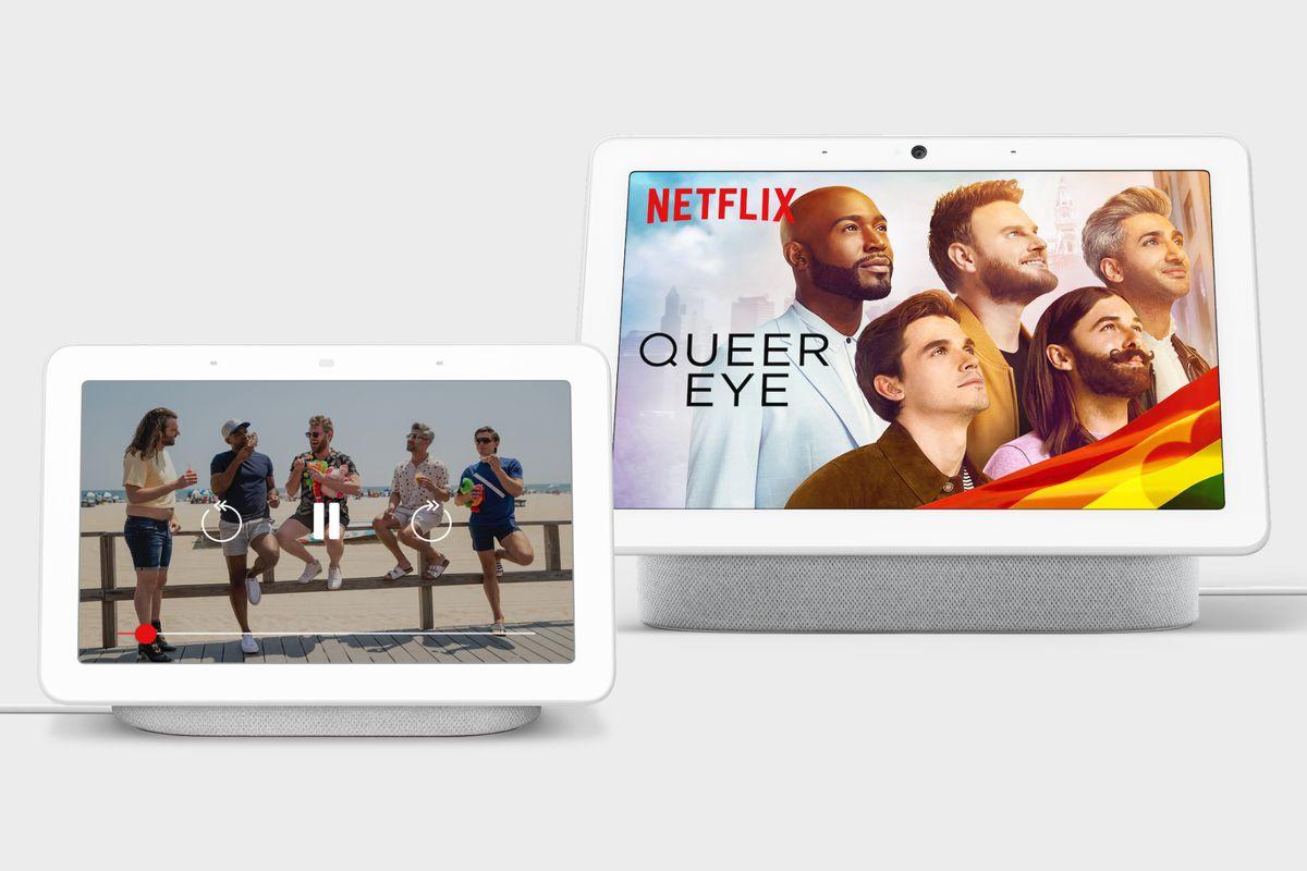 Google Nest Hub running Netflix