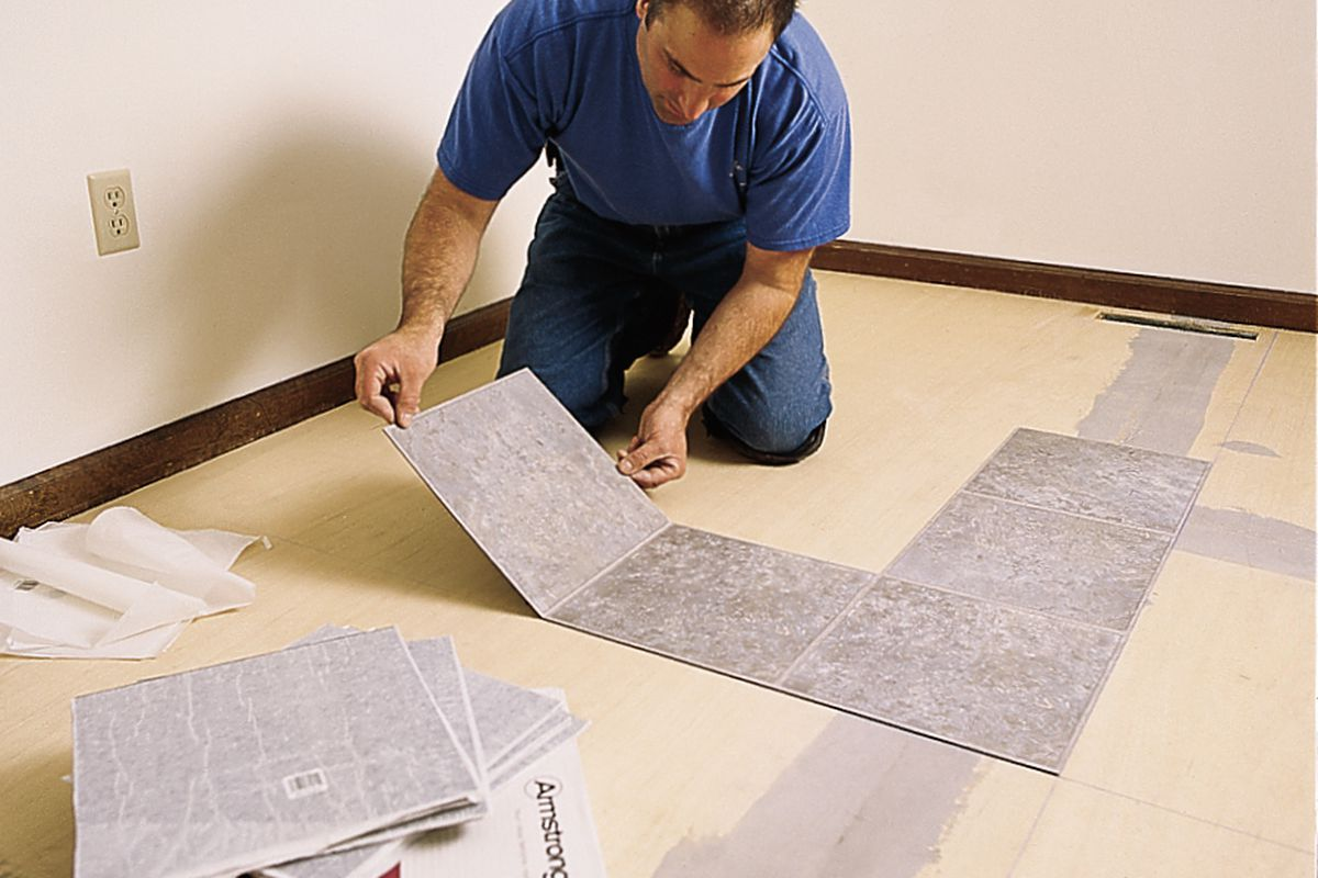 How To Lay A Vinyl Tile Floor This Old House
