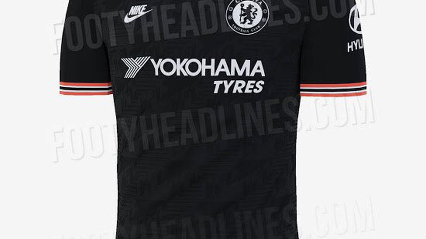 buy popular fbc23 47072 LEAKED: Black and tiny bit orange Chelsea 2019-20 third kit ...