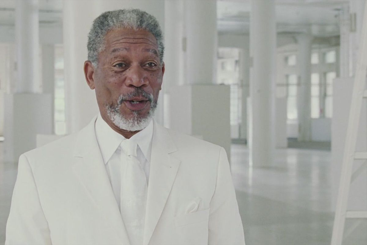 Morgan Freeman playing God in the film Bruce Almighty