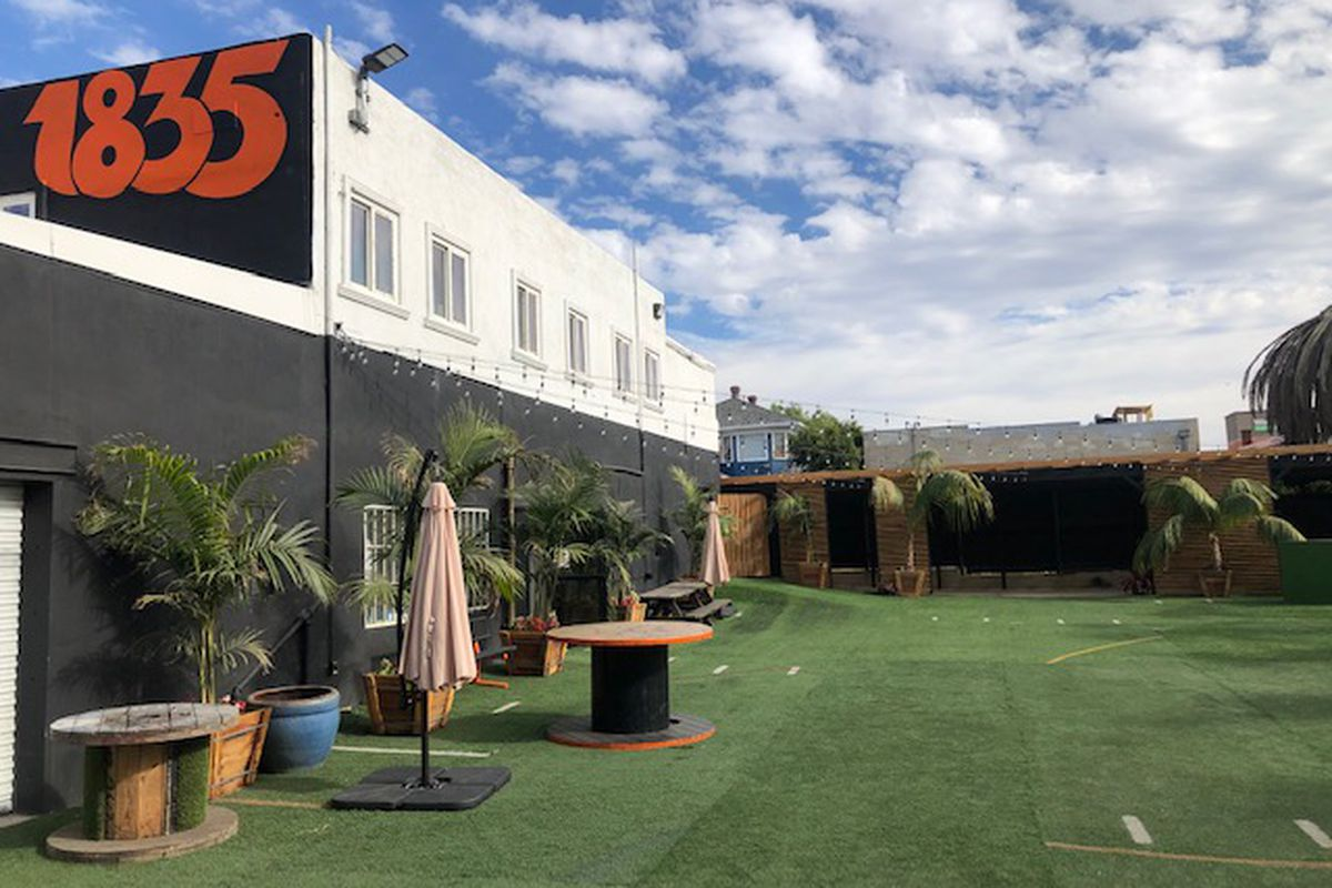 The outdoor event space behind 1835 Studios in Sherman Heights