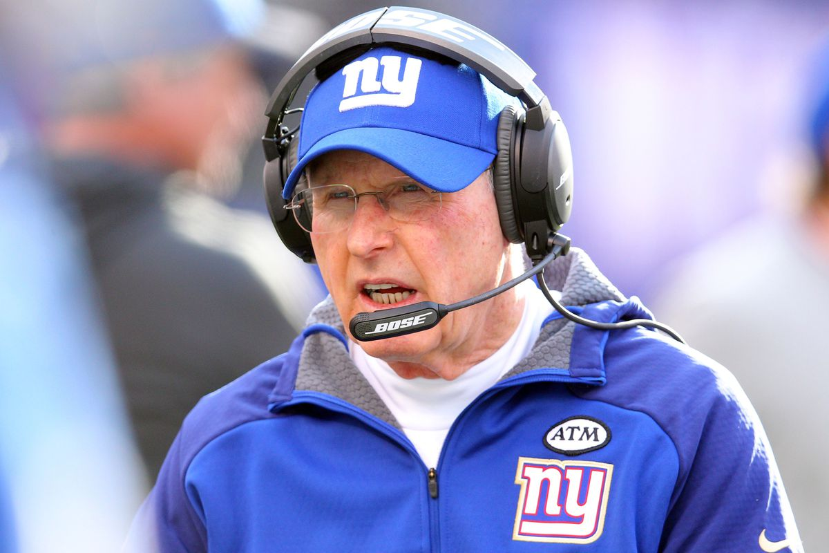 Tom Coughlin during Sunday's game