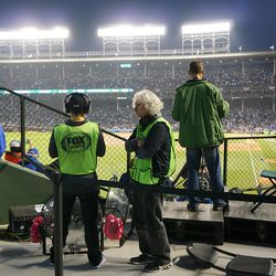 Temporary FOX Sports camera position, in the left field corner