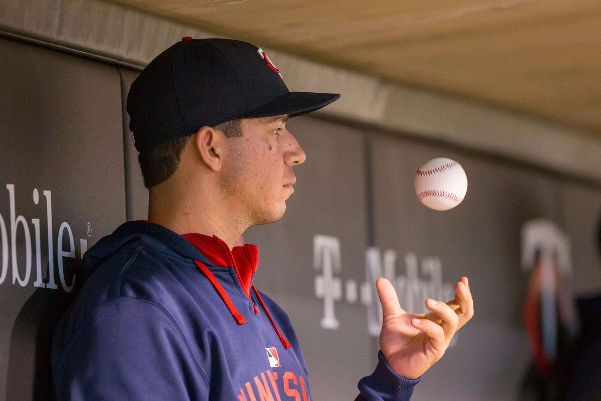 Tommy Milone practices his telekinesis when no one else is watching.