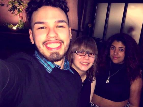 Anastacio Morales (left) with friends, Jamie Poulos and Alex Kariott.   Facebook