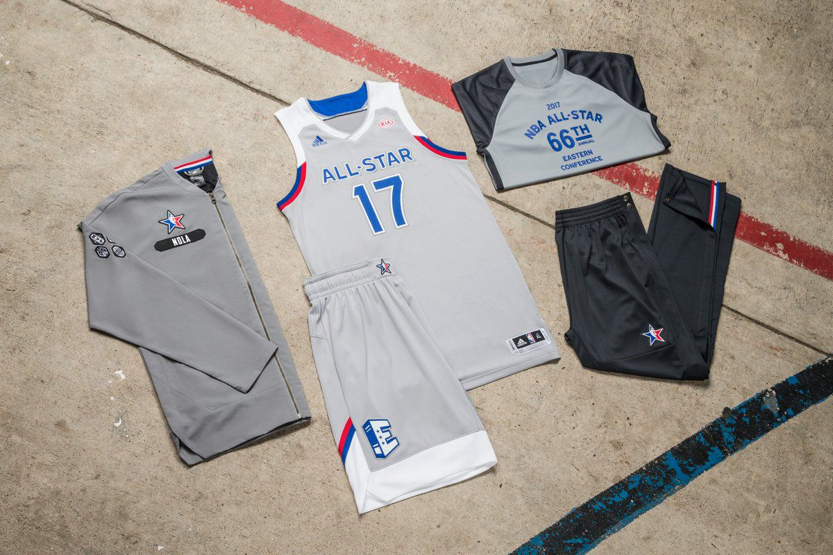 2d5be4e9e16 This is the second consecutive year the NBA All-Star jerseys will bear a  logo for KIA Motors, the league's official motor vehicle sponsor.