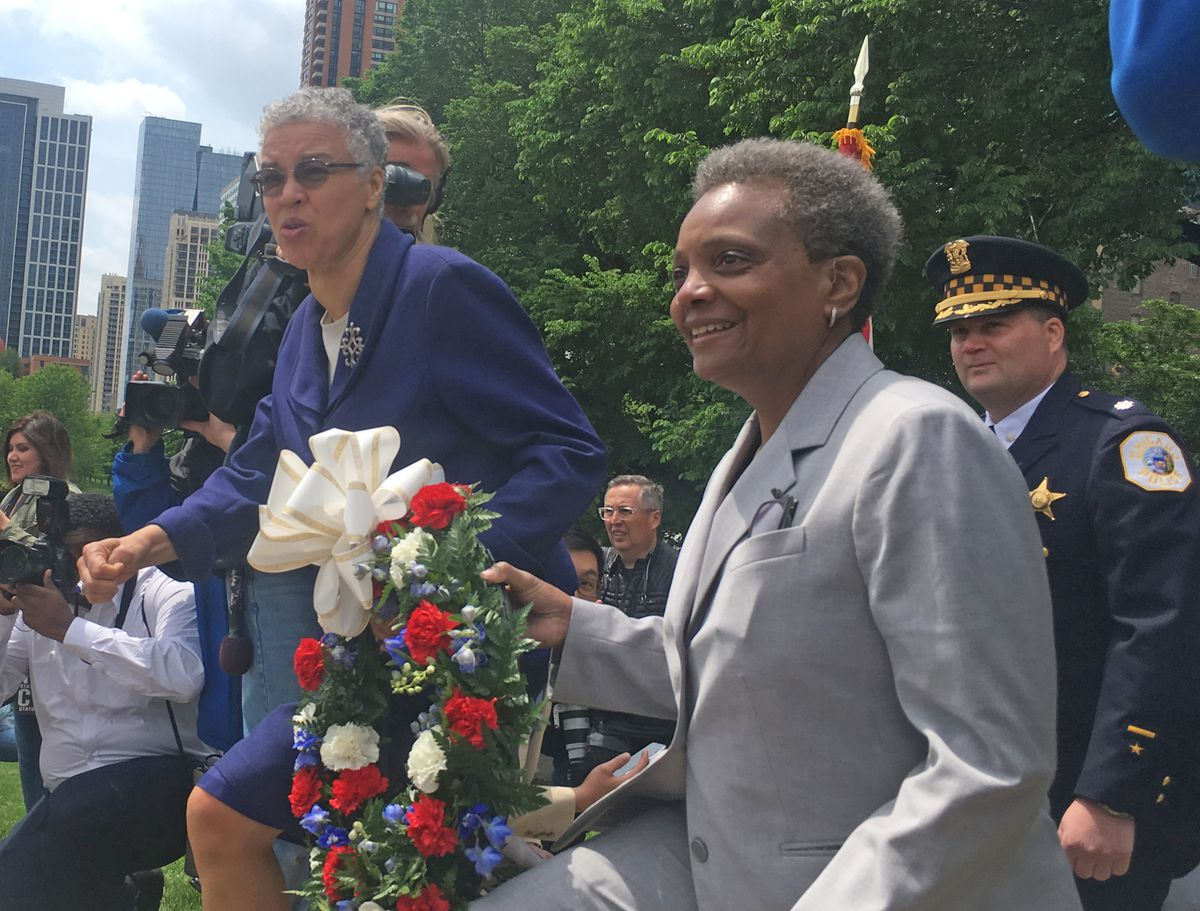 Lightfoot, Preckwinkle attend Memorial Day ceremony at ...