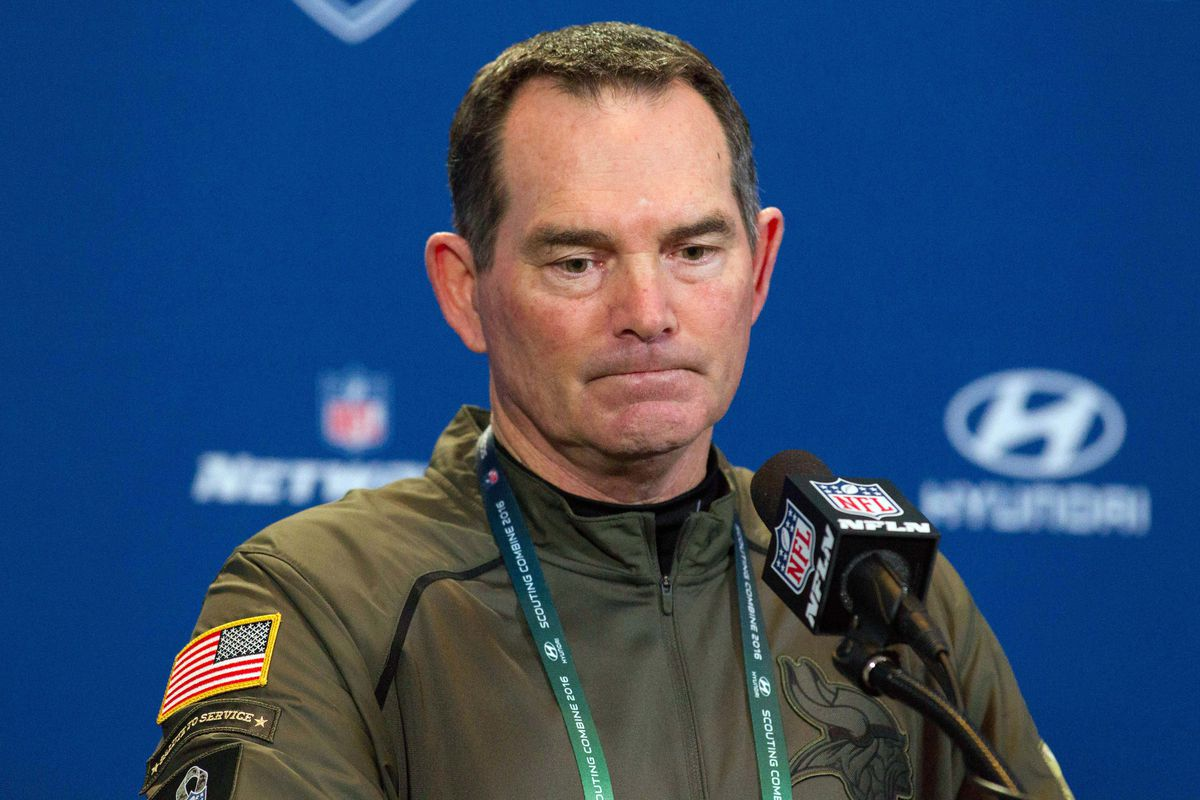Shockingly, no pictures of C.J. Ham. So, here's Mike Zimmer.