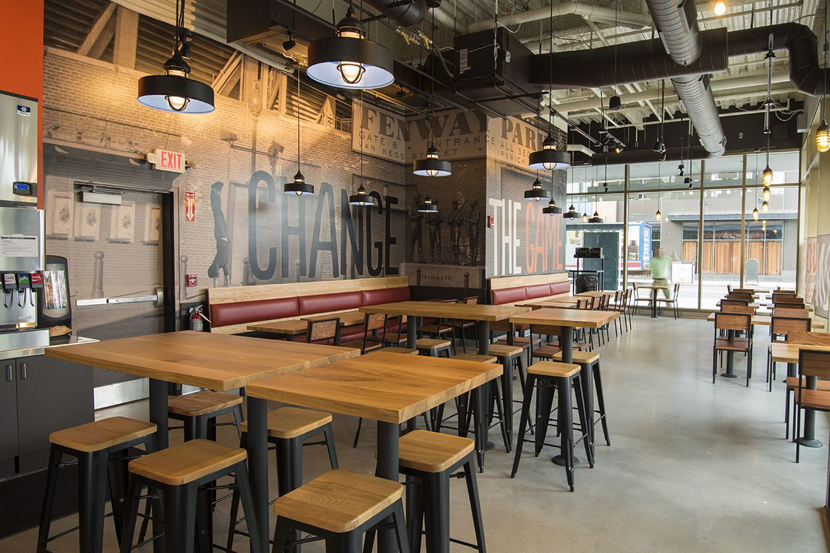 Interior of Blaze Pizza location in Fenway