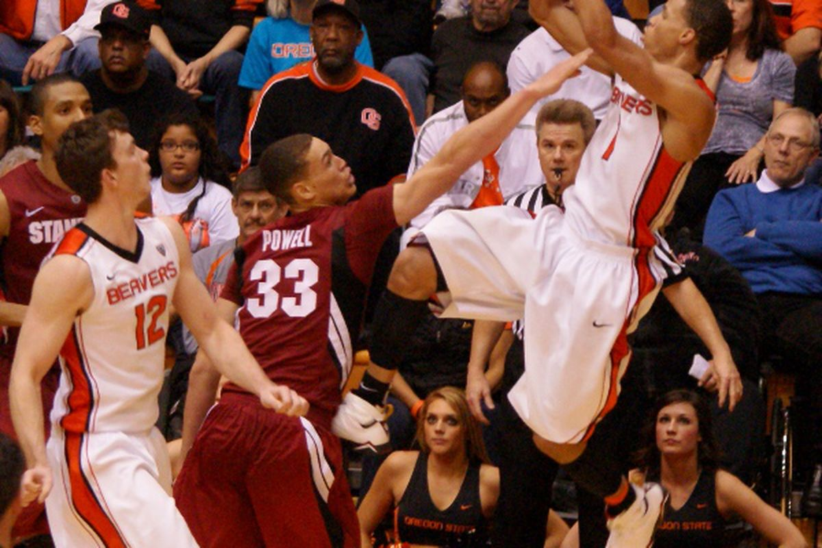 Jared Cunningham, this week's Pac-12 Player of the Week, will need to fly high again in mile-high Boulder in order for Oregon St. to beat the Buffs. <em>(Photo by Andy Wooldridge)</em>