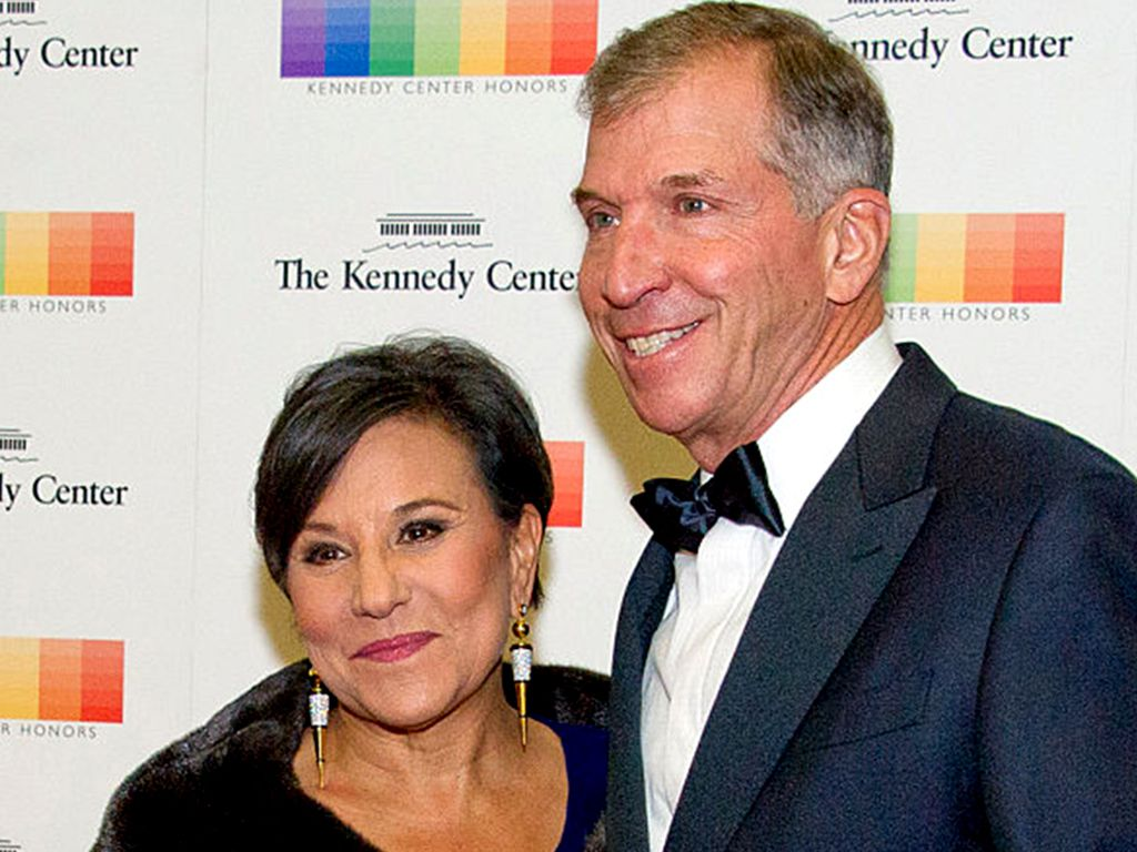 Penny Pritzker and her husband, Dr. Bryan Traubert   Getty Images