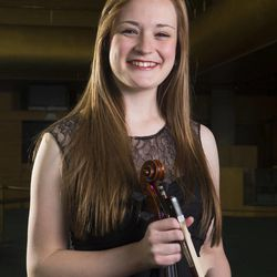 Rebecca Epperson at a 2014 Salute to Youth photo shoot Wednesday, July 30, 2014, at Abravanel Hall in Salt Lake City.