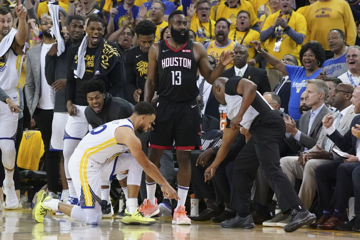 ed544b40cead The heated ending to Game 1 of Rockets-Warriors was a perfect microcosm of  the rivalry