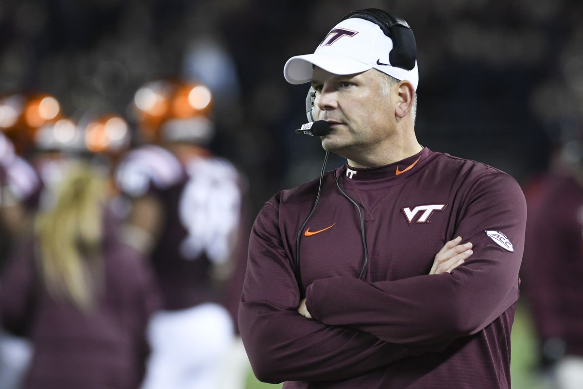Coach Fuente - first VT Coach to face off with Notre Dame.