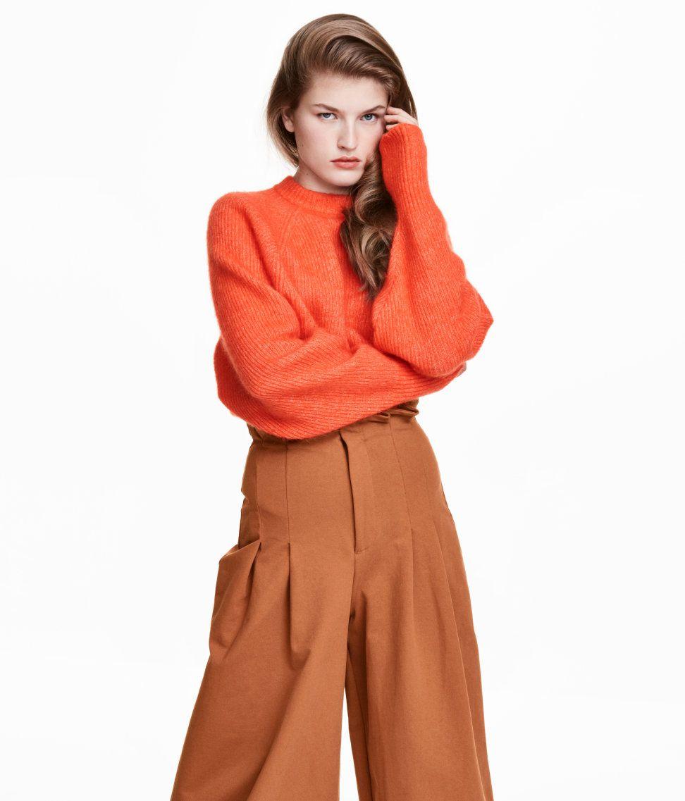 An orange sweater