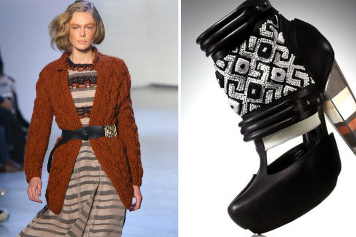 Rodarte A/W 2012 via Getty, Rodarte footwear, via Marie Claire