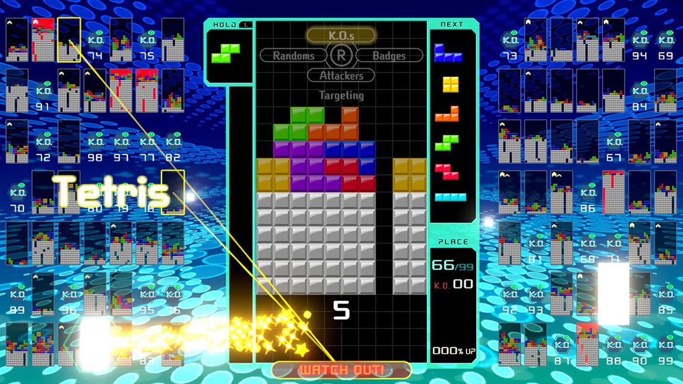 Tetris 99 is the opposite of Tetris Effect, and it's amazing - The Verge