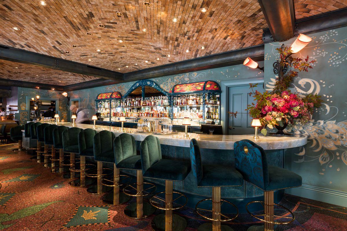 Recently renovated bar at Boulevard