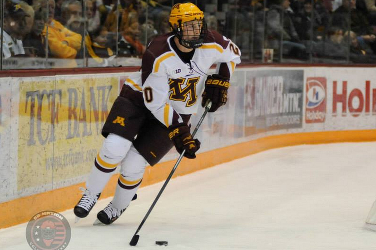 Minnesota forward Michael Brodzinski and his teammates are the No. 1 overall seed in the NCAA Tournament.