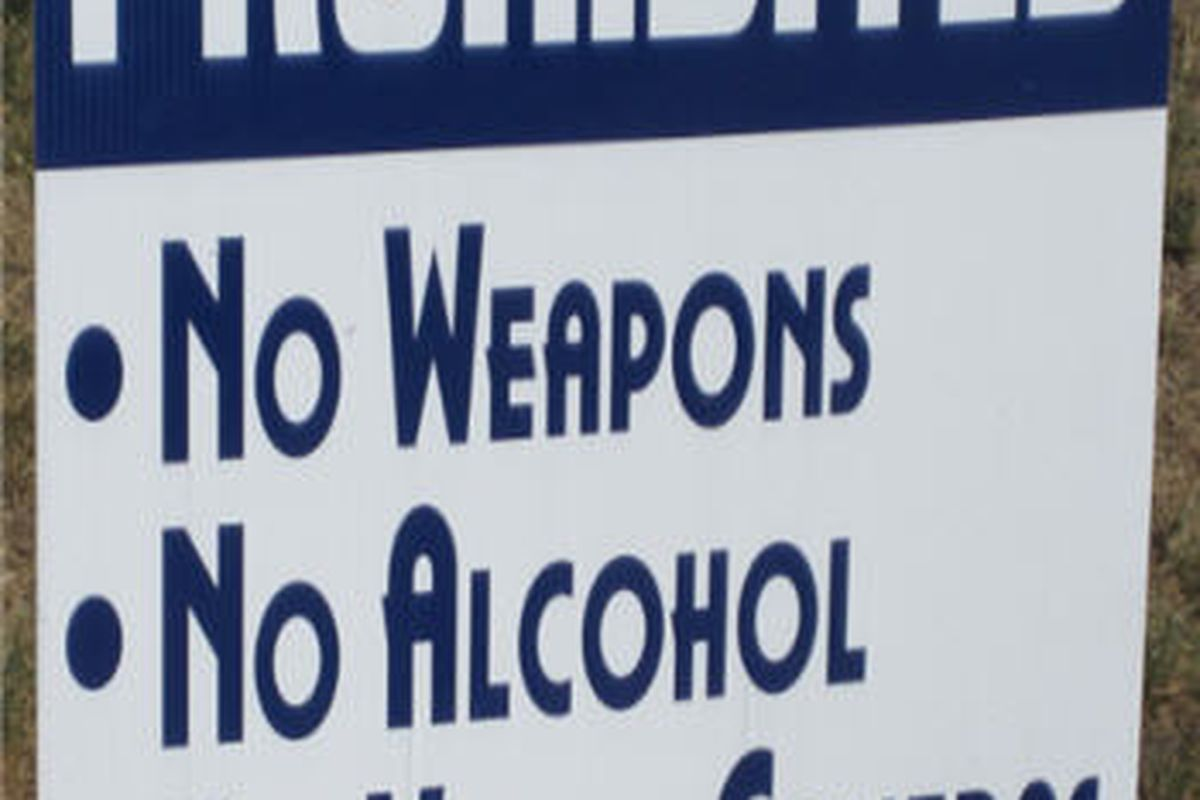 The St. Louis Rams are very serious about their no weapon policy at training camp.