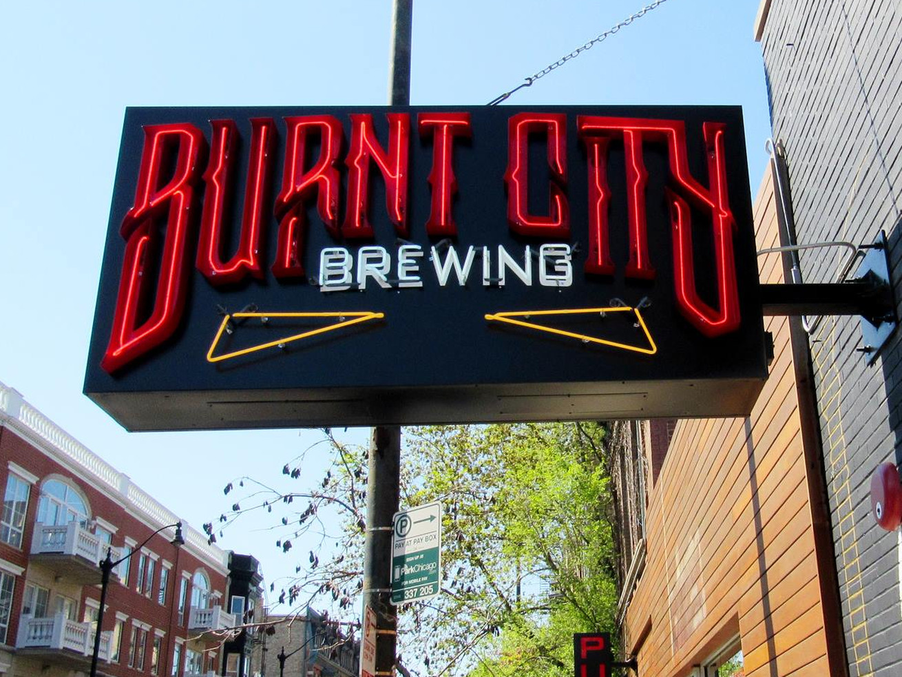 Burnt City Brewing's pub in Lincoln Park.