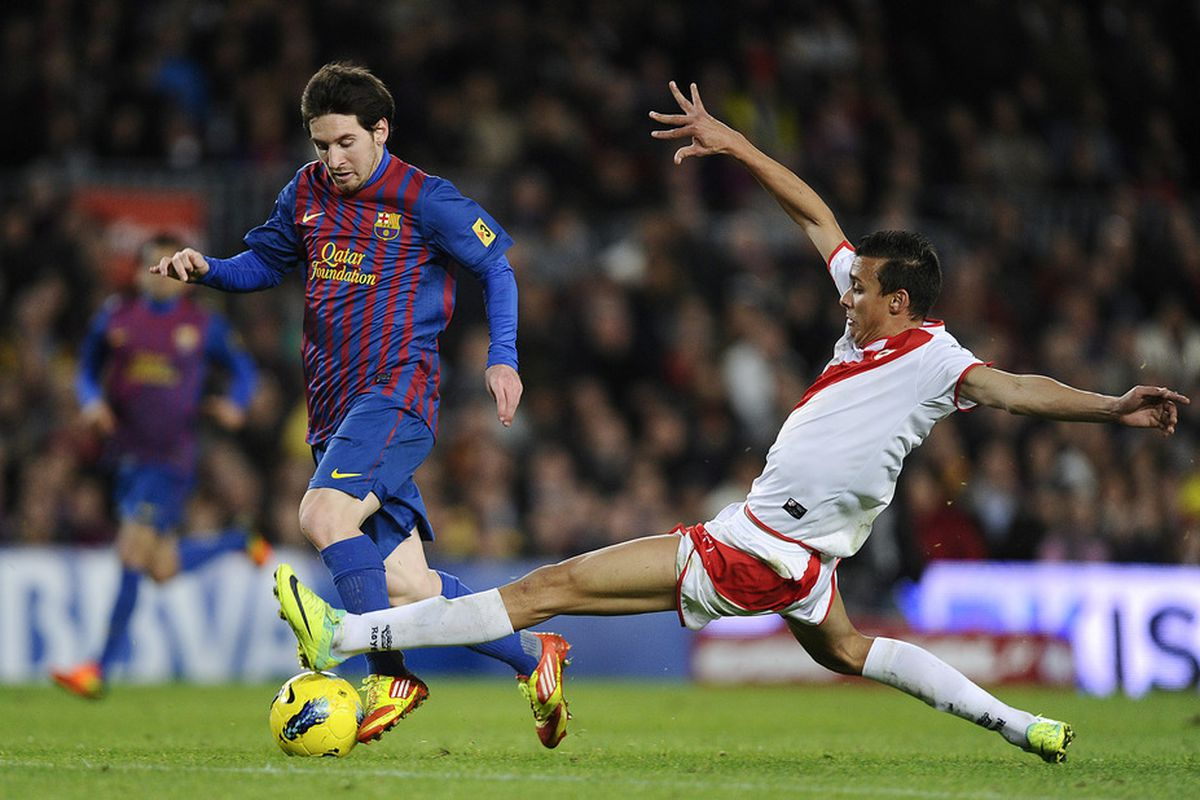 I'm surprised Messi wasn't put off by Pedro's gangly frame