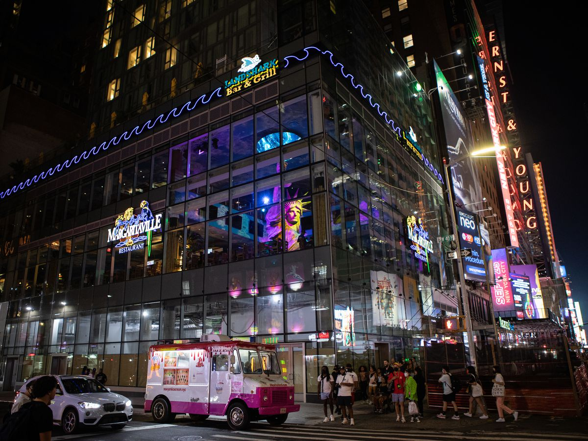The exterior of the Margaritaville Resort Times Square.