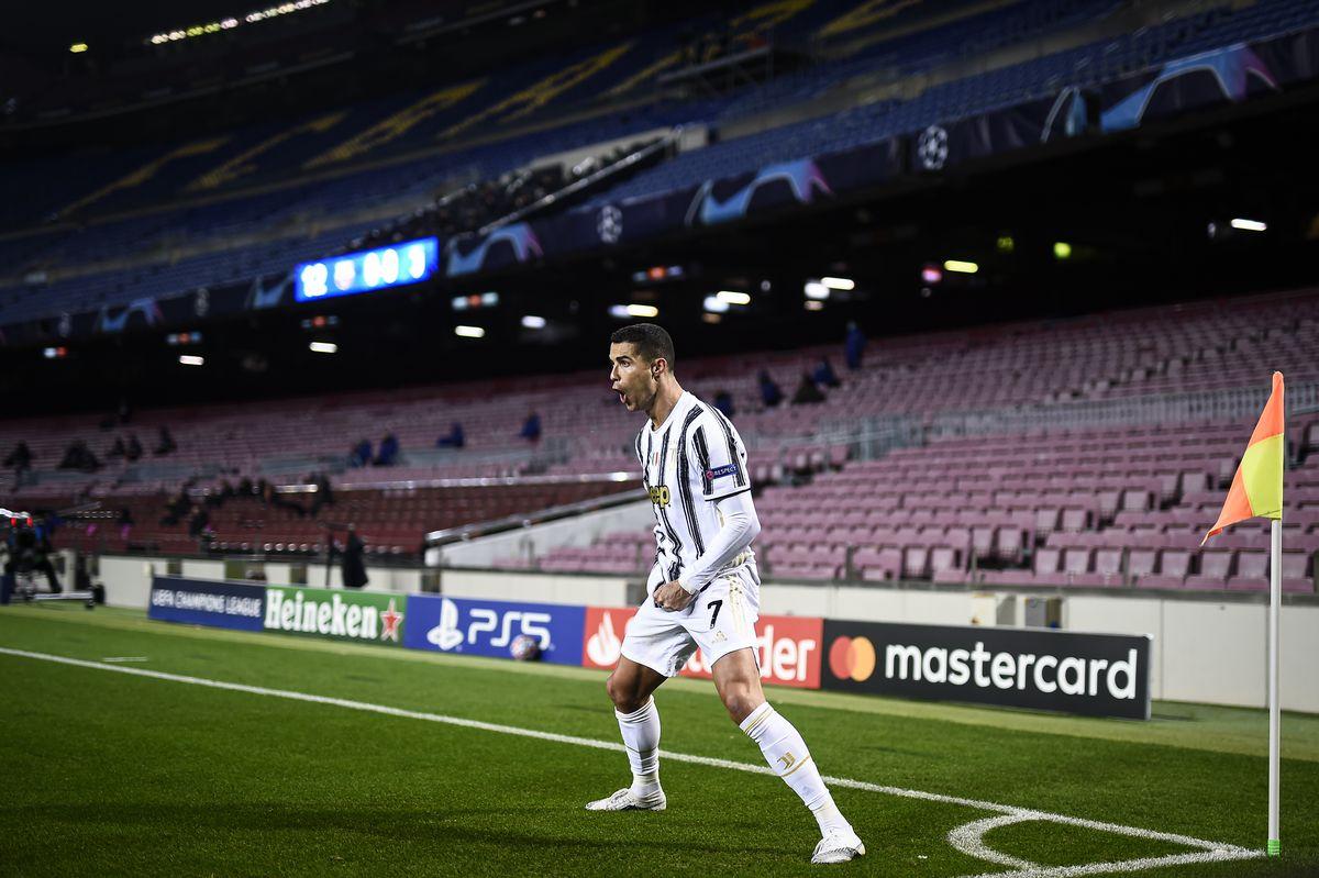 Cristiano Ronaldo of Juventus FC celebrates after scoring...