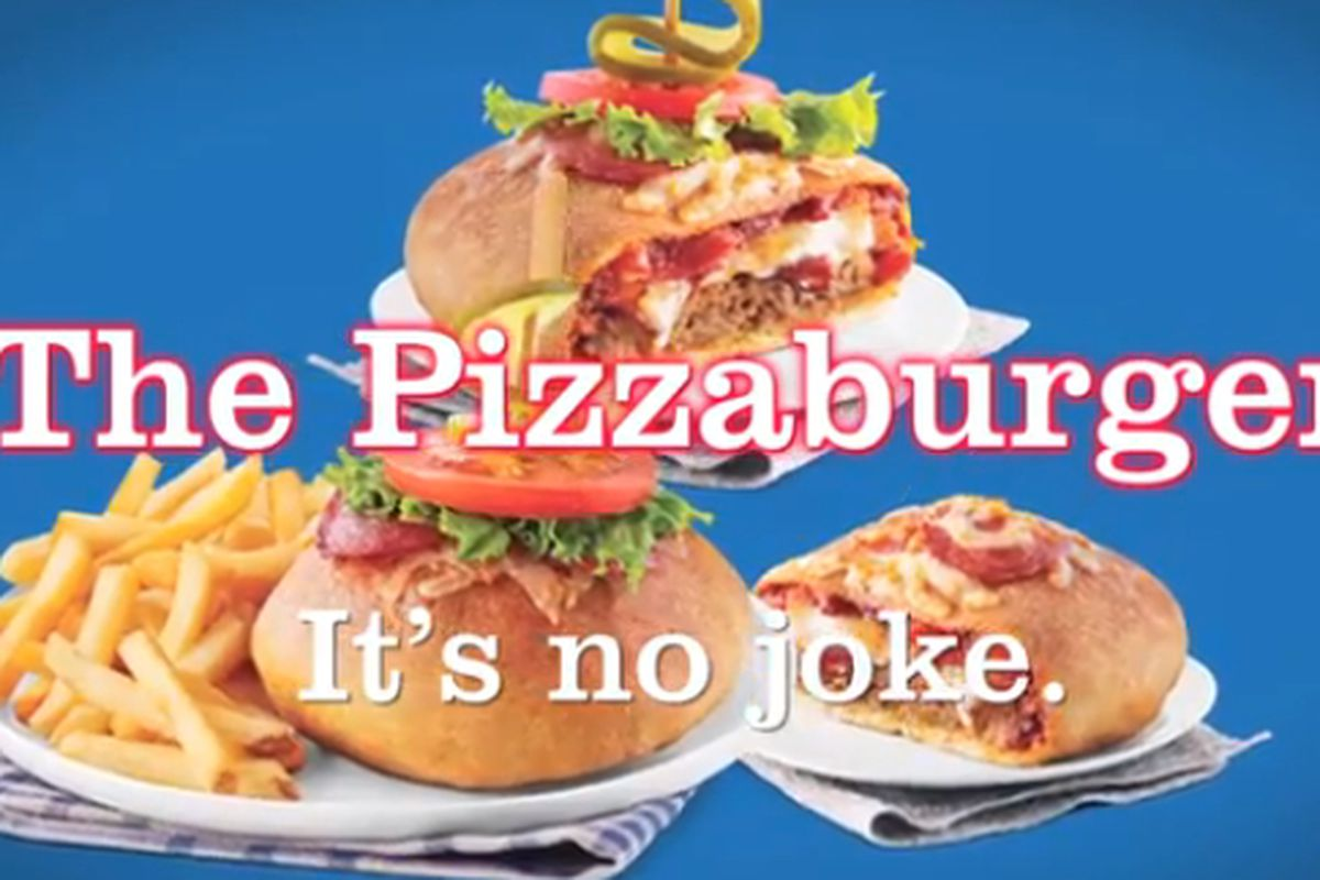Pizzaburgers A Pizza Burger Hybrid Come To Canada Eater