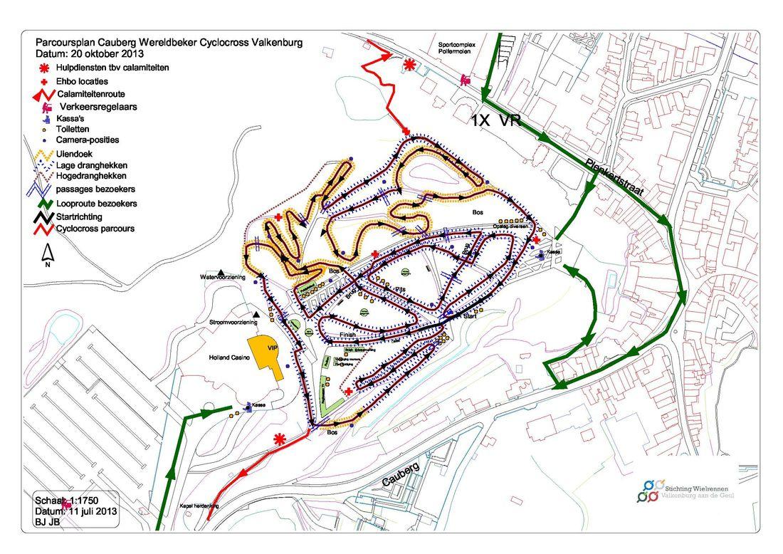 Cauberg Cross Map