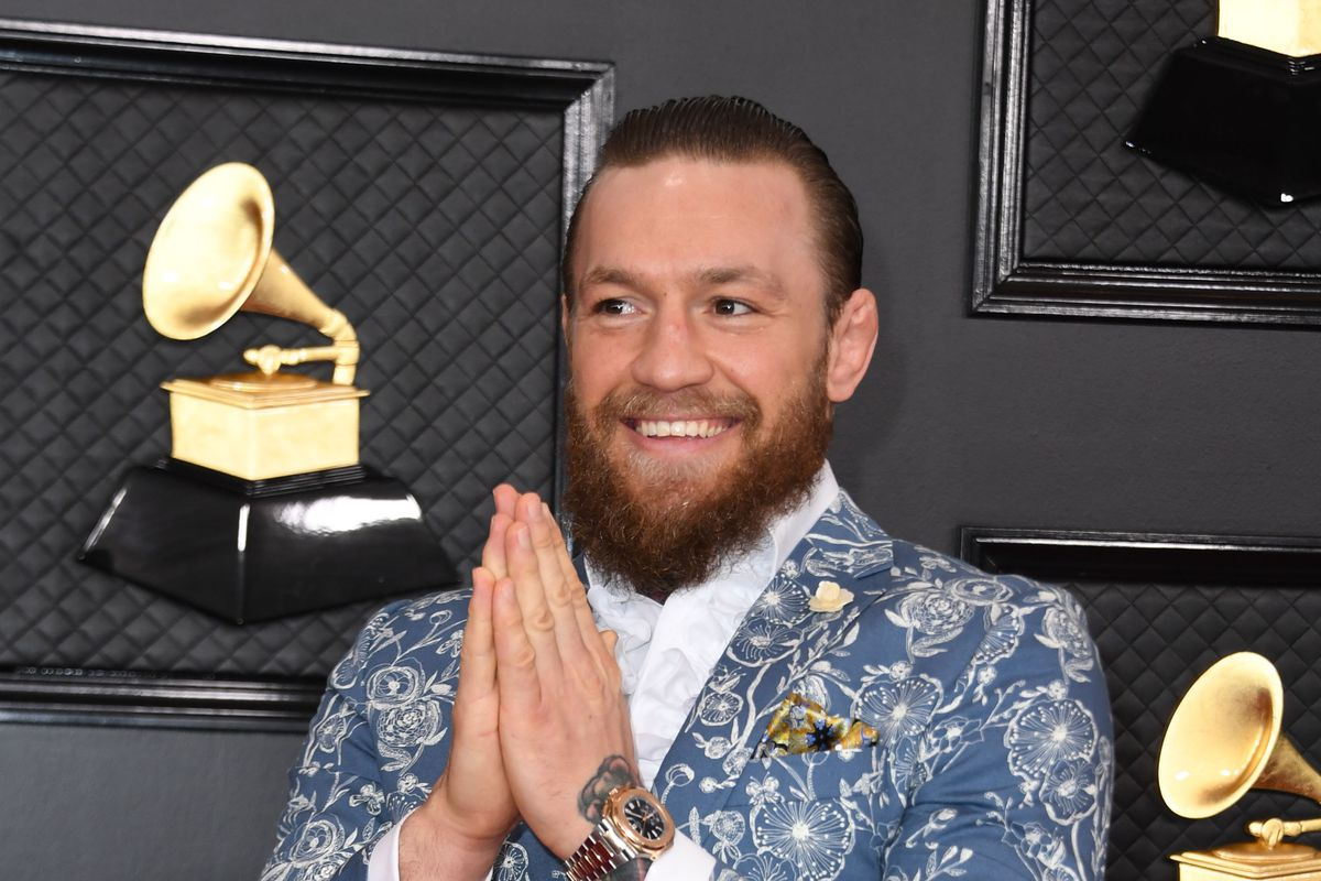 Irish mixed martial arts artist Conor McGregor arrives for the 62nd Annual Grammy Awards on January 26, 2020, in Los Angeles.