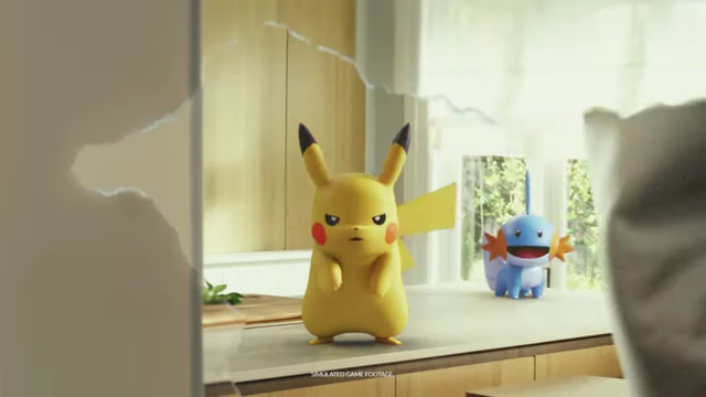 Pokémon GO - two Pokémon hide out in a player's home in a commercial