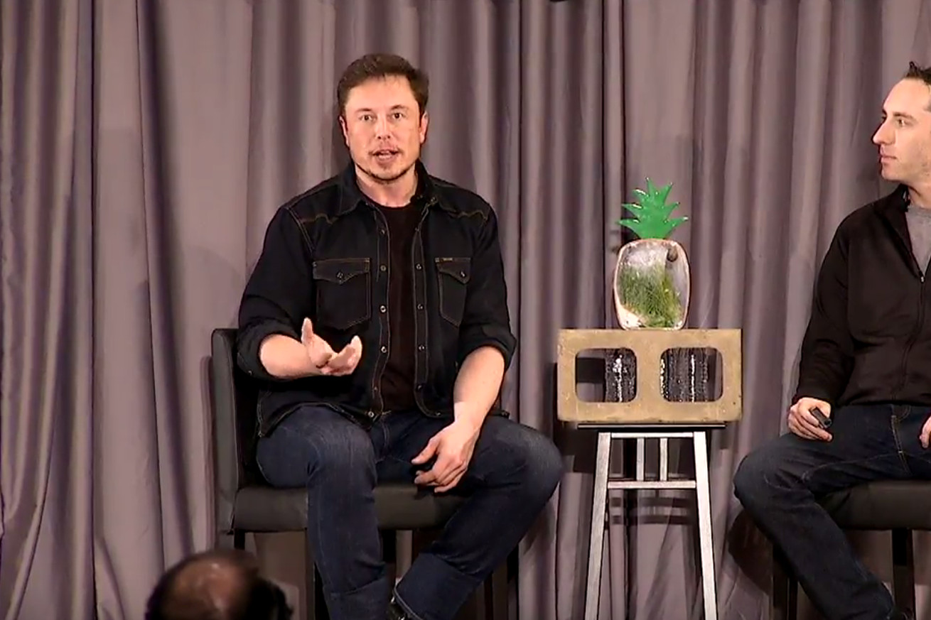 Elon Musk at a Boring Company community meeting