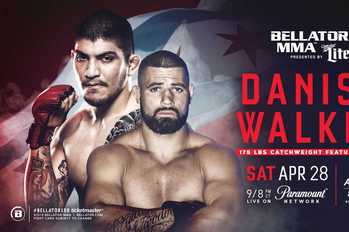The Bellator 198 is set to go down this Saturday night April 28, 2018, at  Allstate Arena in Rosemont, Ill., near Chicago. The main card airs on  Paramount ...