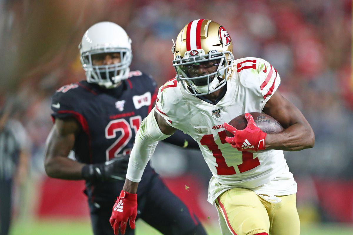 San Francisco 49ers wide receiver Emmanuel Sanders against the Arizona Cardinals at State Farm Stadium.