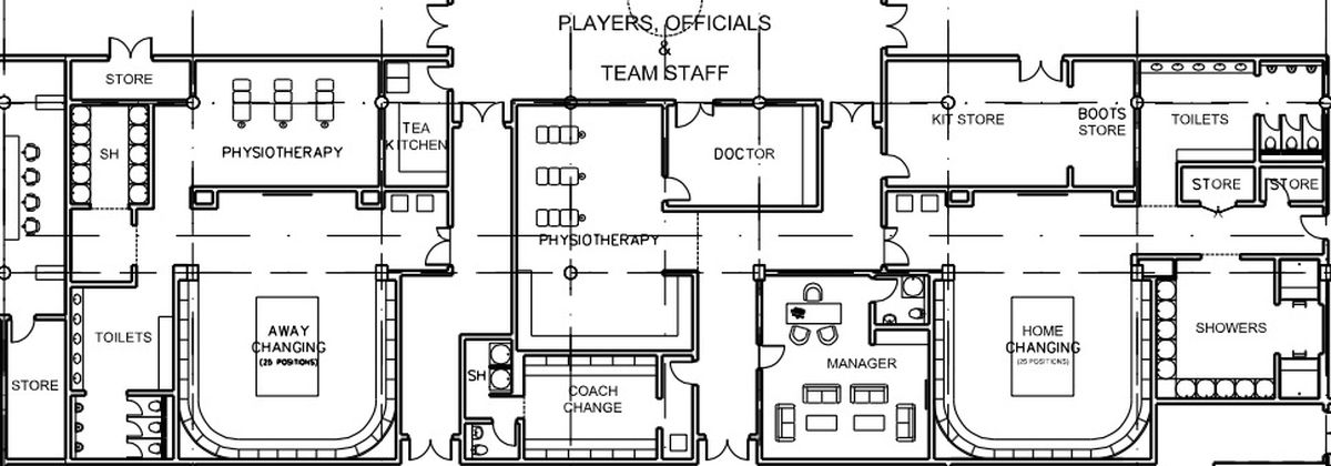 Spurs stadium plans reveal possible NFL sized locker room