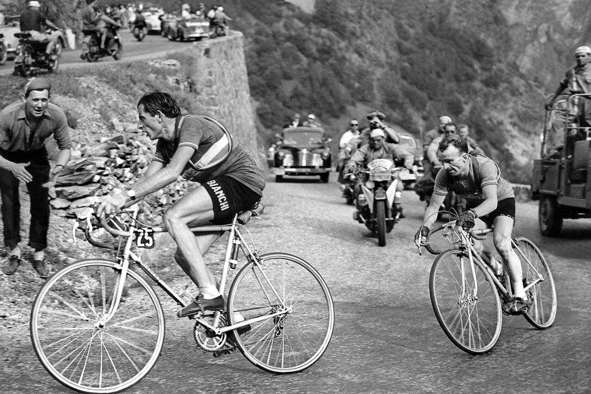 Fausto Coppi on l'Alpe d'Huez