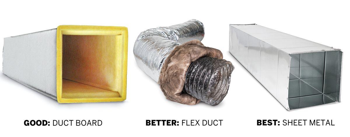 Duct Board, Flex Duct, Sheet Metal Duct