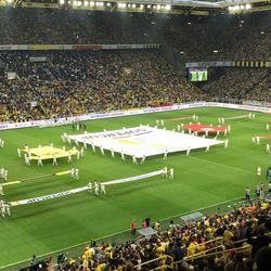 Pregame ceremonies at the DFL-Supercup, August 3, 2019.