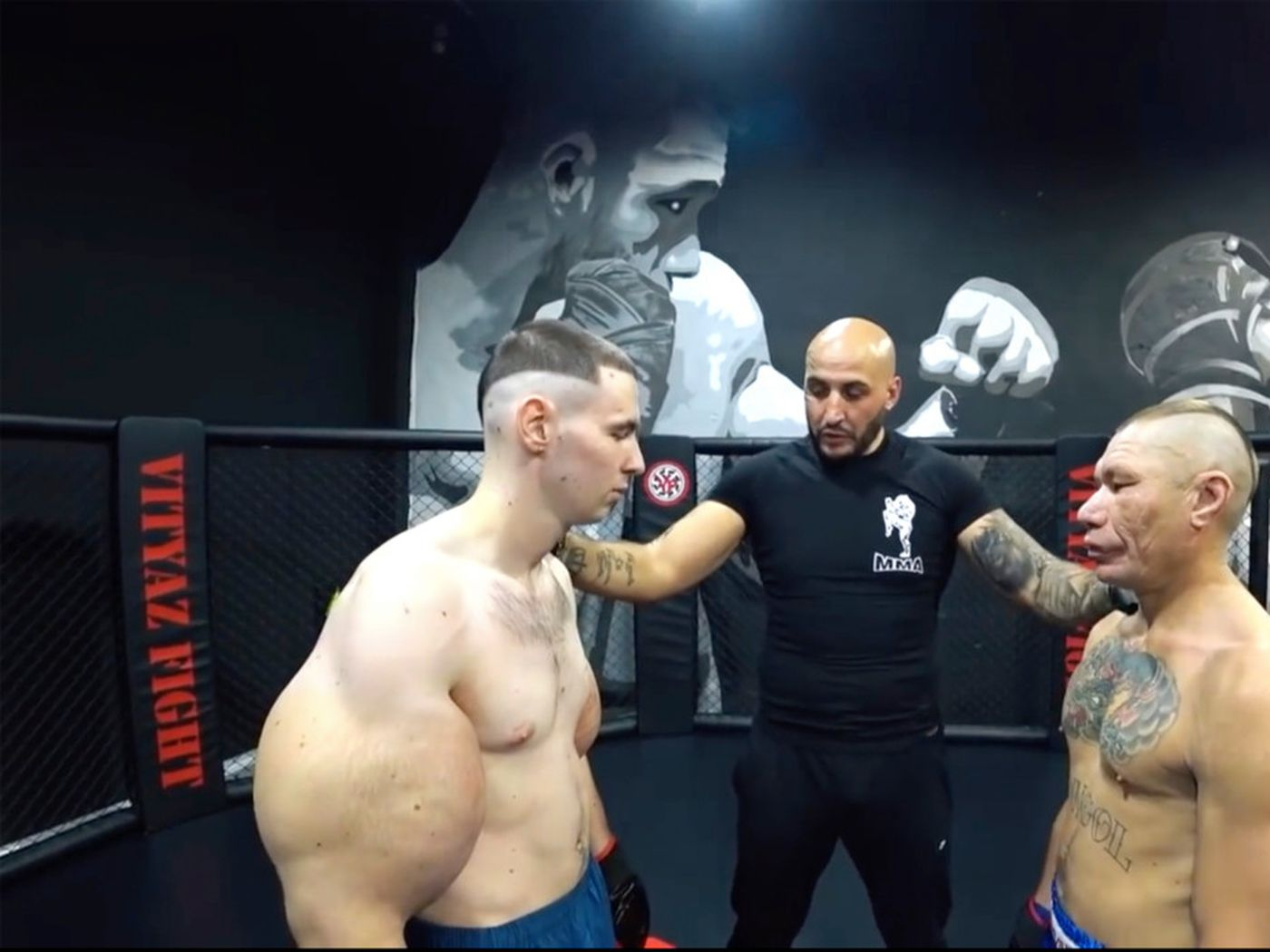 Video Russian Popeye Tries Mma Gets Destroyed By Random