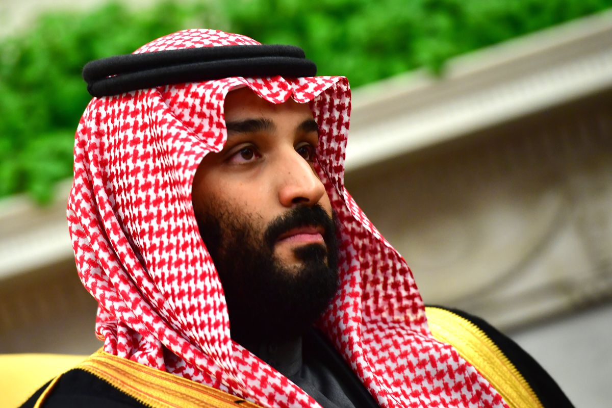 Crown Prince Mohammed bin Salman of the Kingdom of Saudi Arabia is seen during a meeting with President Donald Trump in the Oval Office at the White House on March 20, 2018 in Washington, DC.