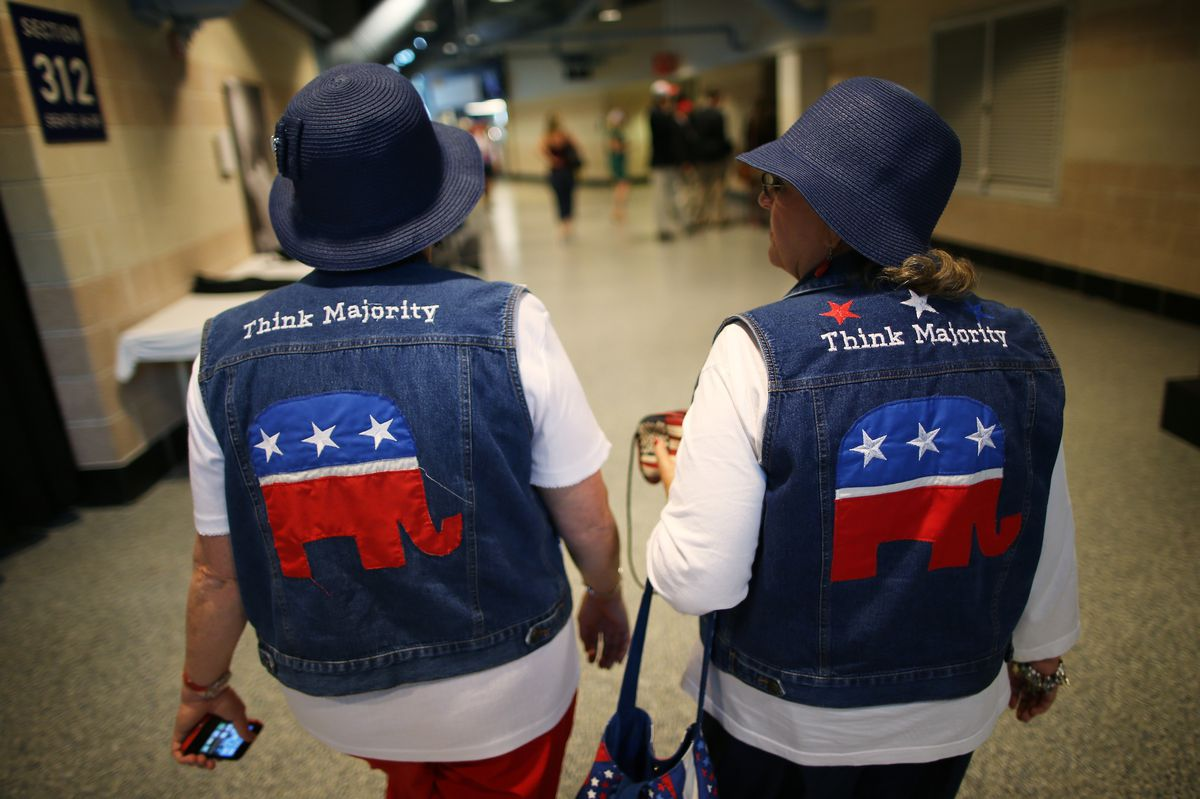 Two attendees at the 2012 RNC in Tampa, Florida.
