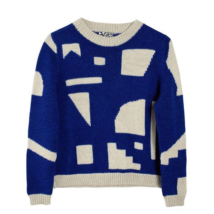 Blue and white Dusen Dusen sweater