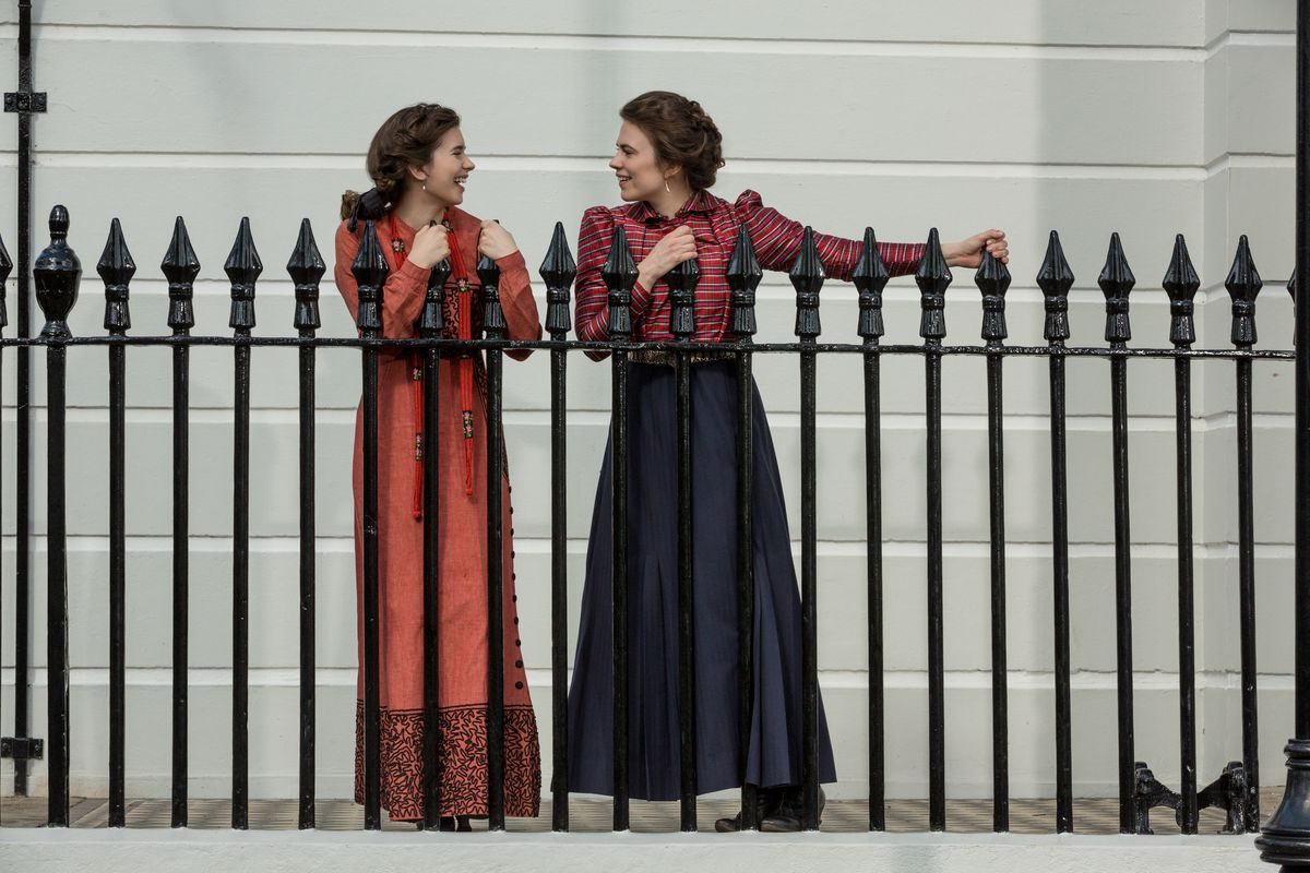 Philippa Coulthard and Hayley Atwell in Howards End