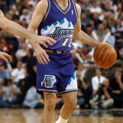 John Stockton against the Sacramento Kings in Game 5 of the 2003 NBA playoffs at what was then known as Arco Arena.