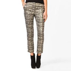 """<b>Forever 21</b> Jacquard Metallic Capris in black/gold, <a href=""""http://www.forever21.com/Product/Product.aspx?BR=f21&Category=bottom_pants&ProductID=2027704943&VariantID="""">$24.80</a>"""