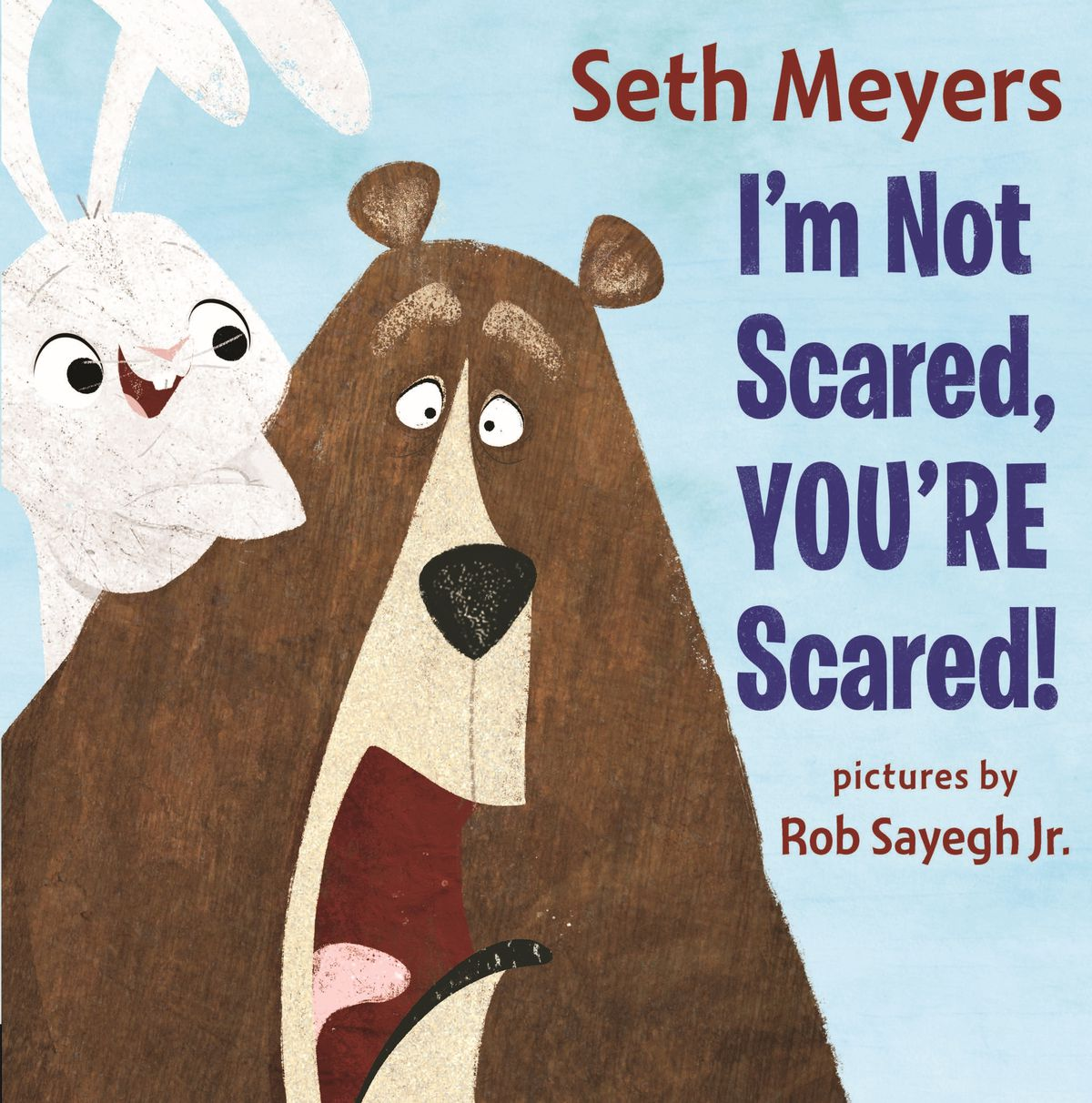 """This image provided by Penguin Random House, shows the cover of the childen's book """"I'm Not Scared, You're Scared!,"""" by Seth Meyers."""